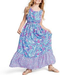 NWT Lilly Pulitzer My Fans Sleeveless Maxi Dress